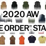 2020aw PRE ORDER START! / 2020年秋冬 先行予約販売スタート!