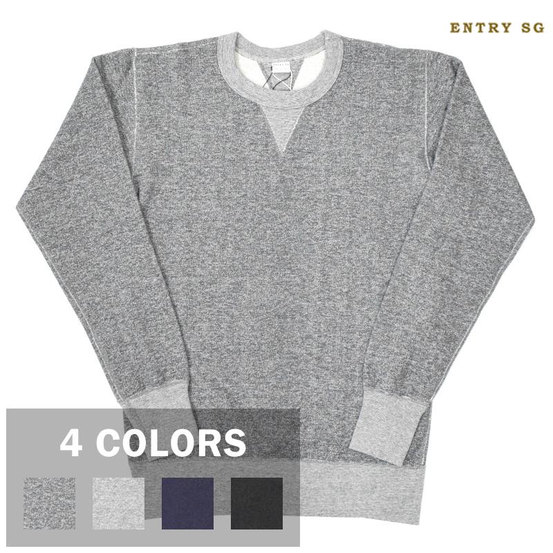 <br>【4 COLORS】ENTRY SG(エントリーエスジー) 【JETTER】 L/S SWEAT SHIRTS(長袖スウェットシャツ)