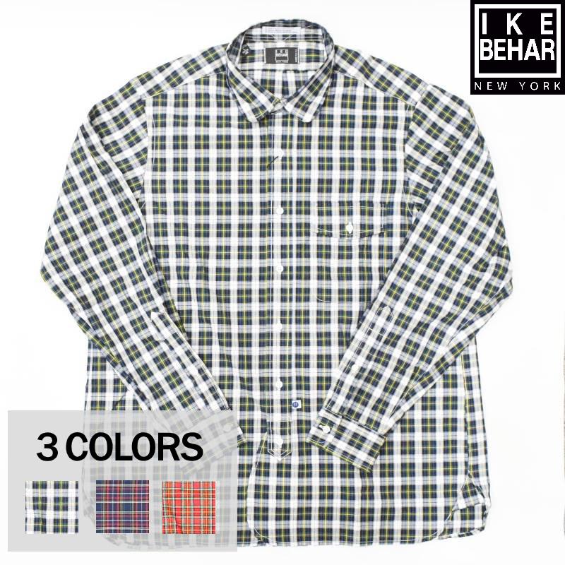 <br>IKE BEHAR(アイク ベーハー) L/S ROUND COLLAR SHIRTS(長袖ラウンドカラーシャツ) TARTAN CHECK(タータンチェック)BROAD