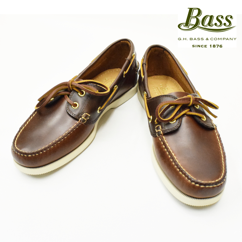 <br>G.H.BASS(バス) MOCCASIN/DECK SHOES(モカシン/デッキシューズ) OILD LEATHER(オイルドレザー) BROWN