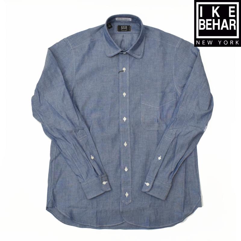 <brIKE BEHAR(アイク ベーハー) L/S ROUND COLLAR SHIRTS(長袖ラウンドカラーシャツ) CHAMBRAY(シャンブレー)GARLAND