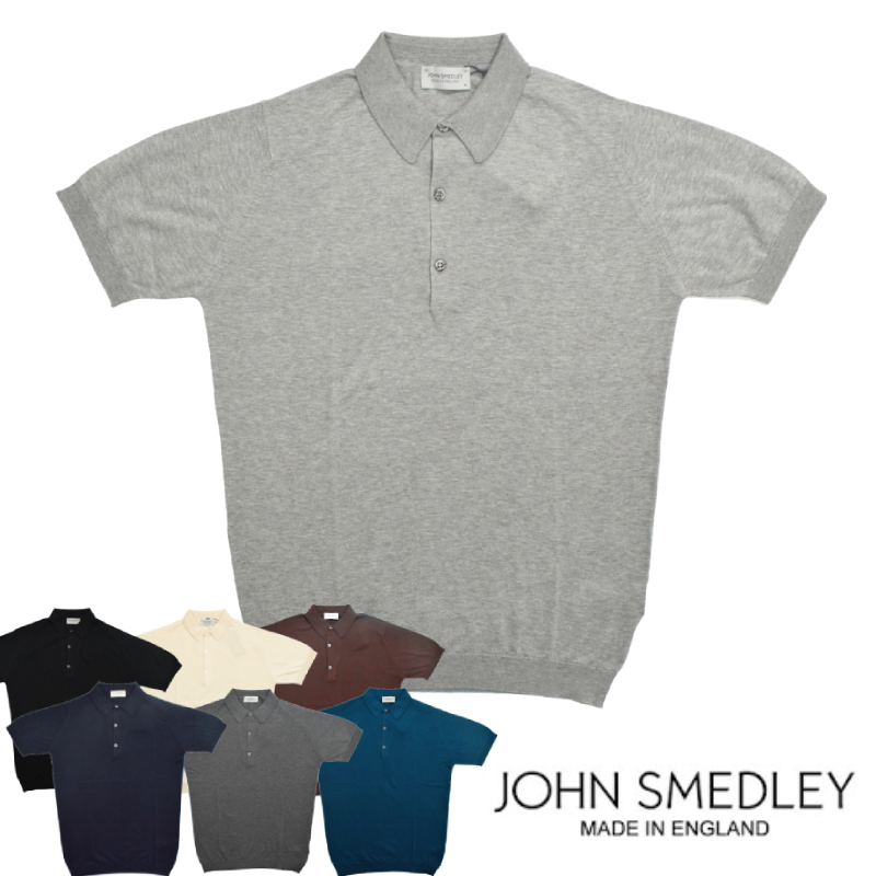 <br>【7 COLORS】JOHN SMEDLEY(ジョンスメドレー)【MADE IN ENGLAND】 KNIT POLOSHIRTS