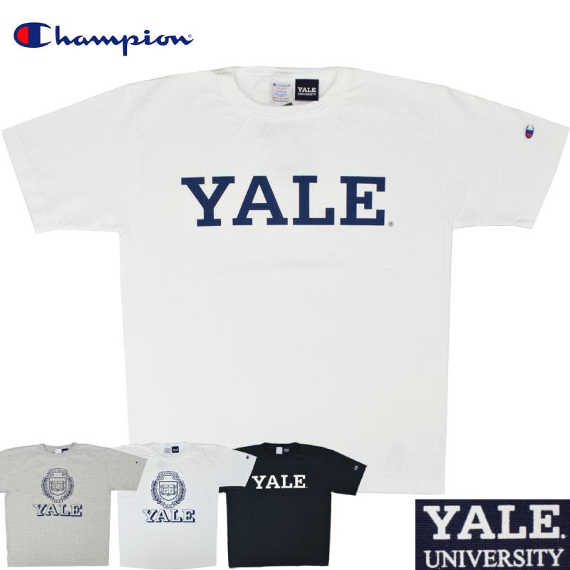 <br>【4 COLOR】CHAMPION(チャンピオン) T1011 S/S COLLEGE PRINT T-SHIRTS(半袖 カレッジプリント Tシャツ) YALE(イェ-ル)