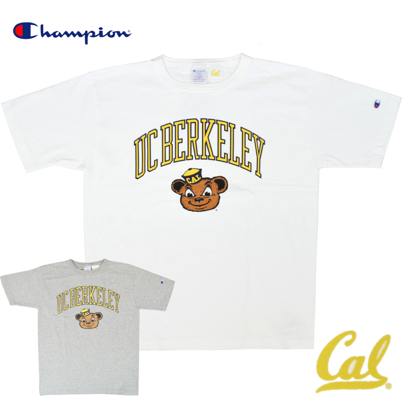 <br>【2 COLOR】CHAMPION(チャンピオン) T1011 S/S COLLEGE PRINT T-SHIRTS(半袖 カレッジプリント Tシャツ) UC BERKALEY(ユーシーバークレイ)
