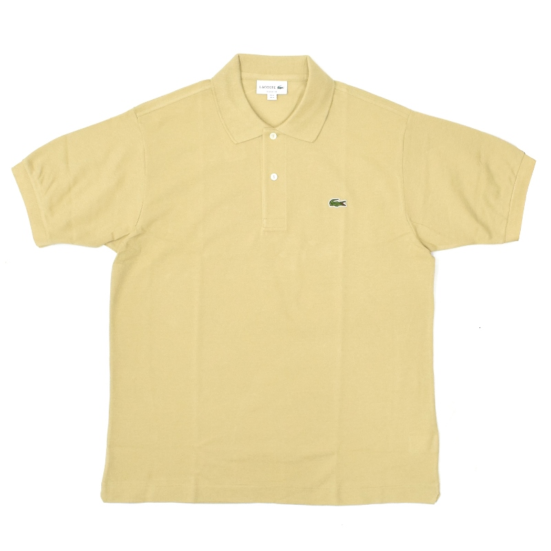 <br>FRANCE LACOSTE(直輸入フランスラコステ) #L1212 S/S PIQUE POLOSHIRTS(半袖 鹿の子 ポロシャツ) BEIGE(02S)