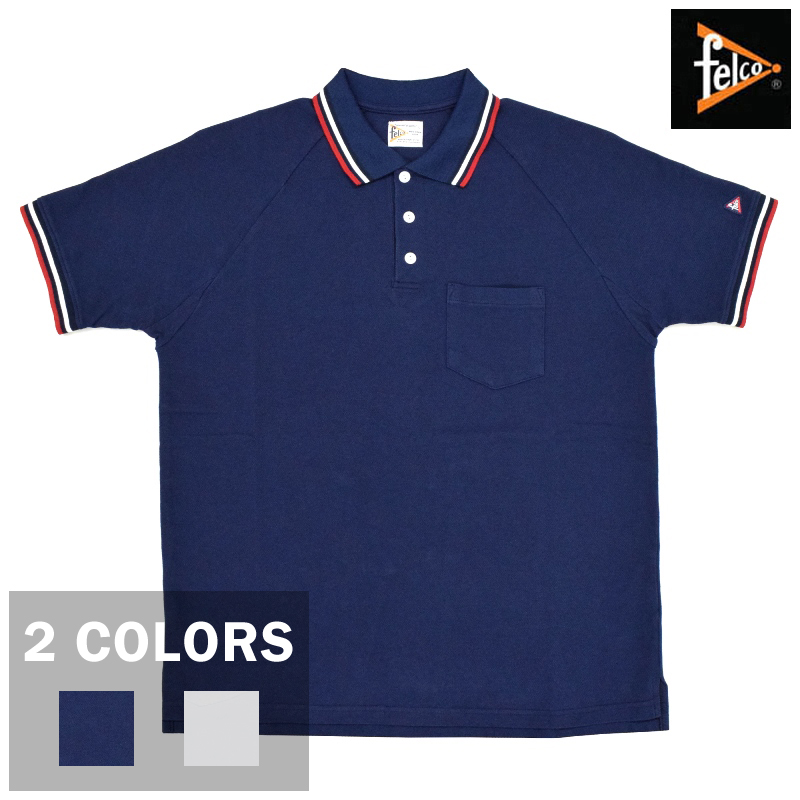 <br>【2 COLORS】FELCO(フェルコ) S/S PIQUE POLO SHIRTS(半袖 ピケ ポロシャツ)