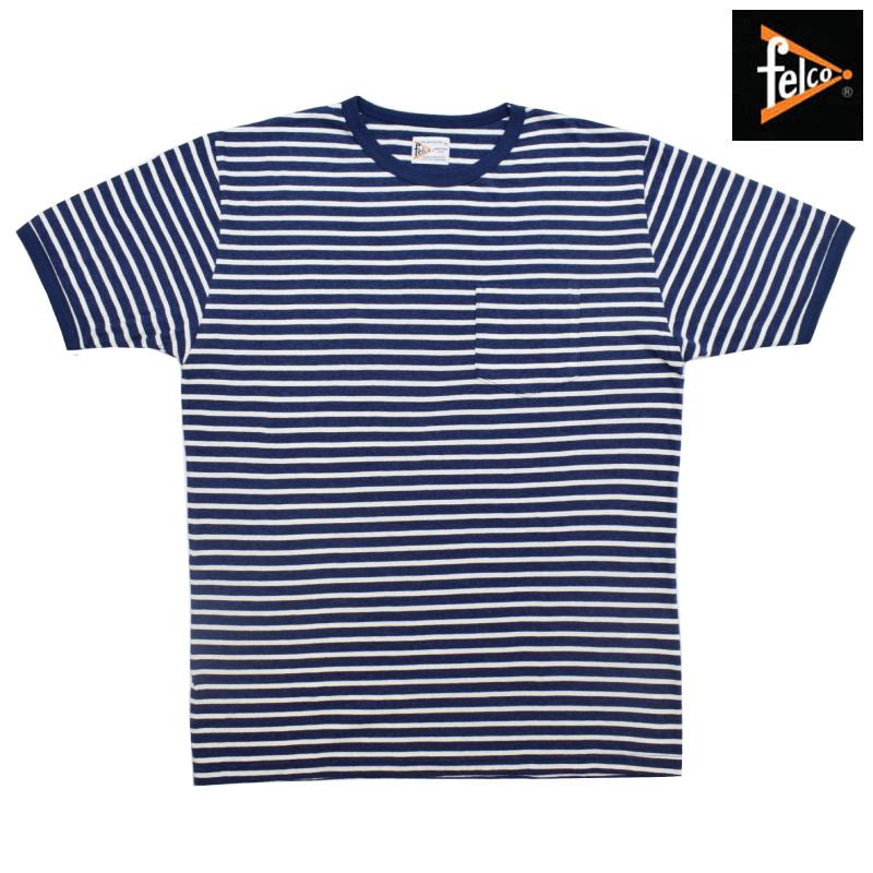 <br>FELCO(フェルコ) S/S C/N RINGER POCKET T-SHIRTS(半袖クルーネックリンガーポケットTシャツ) BORDER