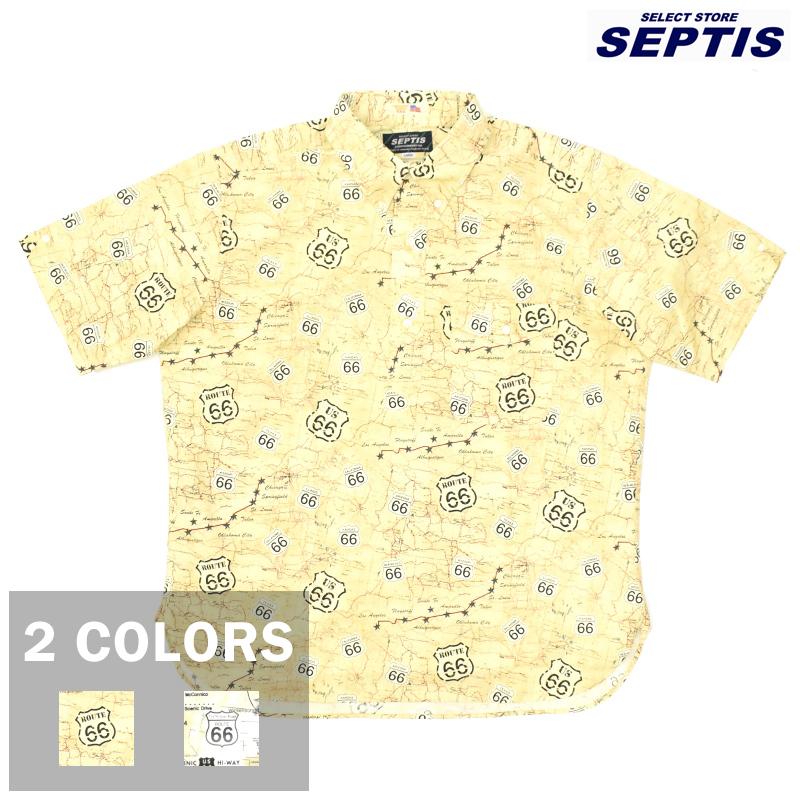 <br>【2 COLORS】SEPTIS ORIGINAL(セプティズオリジナル) IVY PULLOVER SHIRTS(半袖ボタンダウンアイビープルオーバーシャツ) ROUTE 66(ルート66)