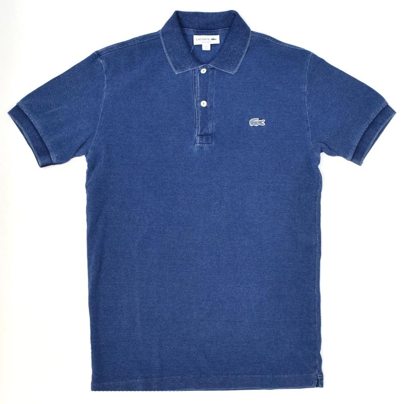 <br>JAPAN LACOSTE(ジャパンラコステ) PH371 S/S PIQUE POLOSHIRTS(半袖 鹿の子 ポロシャツ) INDIGO DYED(インディゴ染め) BLUE