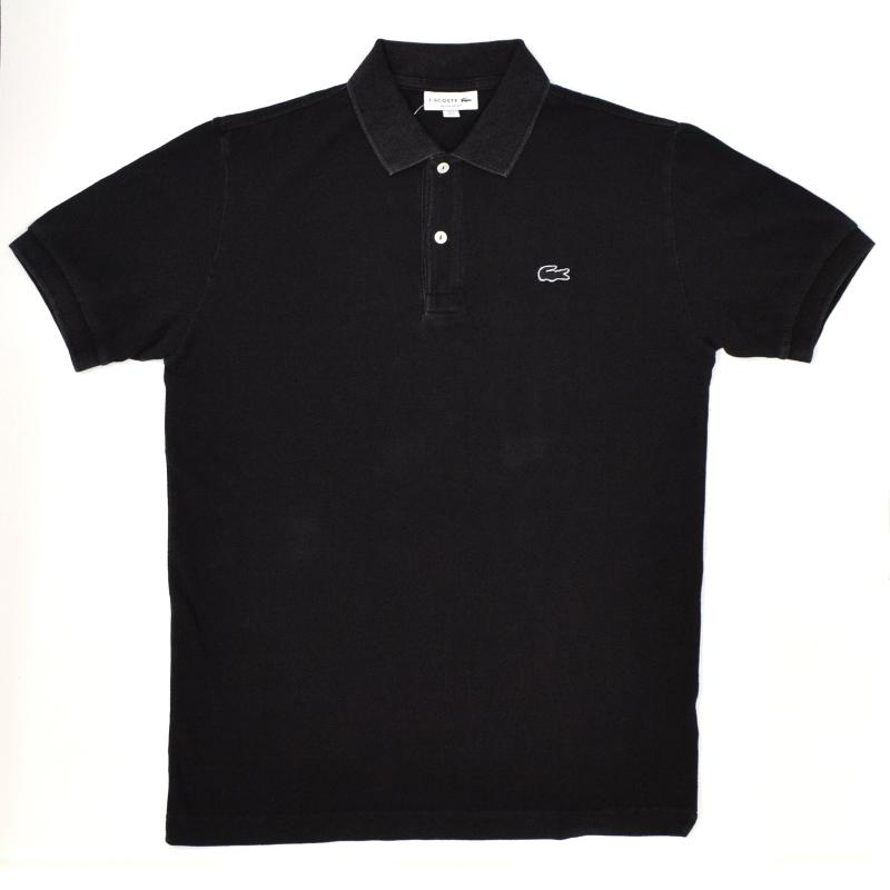 <br>JAPAN LACOSTE(ジャパンラコステ) PH371 S/S PIQUE POLOSHIRTS(半袖 鹿の子 ポロシャツ) INDIGO DYED(インディゴ染め) BLACK