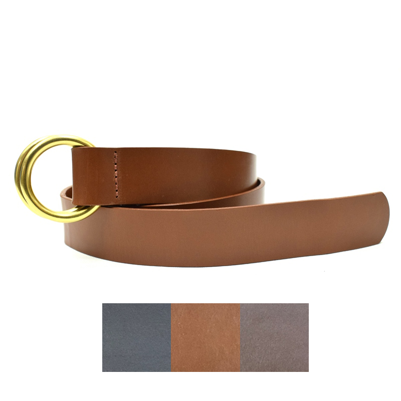 <br>【3 COLORS】LEATHER MAN(レザーマン) DOUBLE RING LEATHER BELT (ダブルリング レザーベルト)