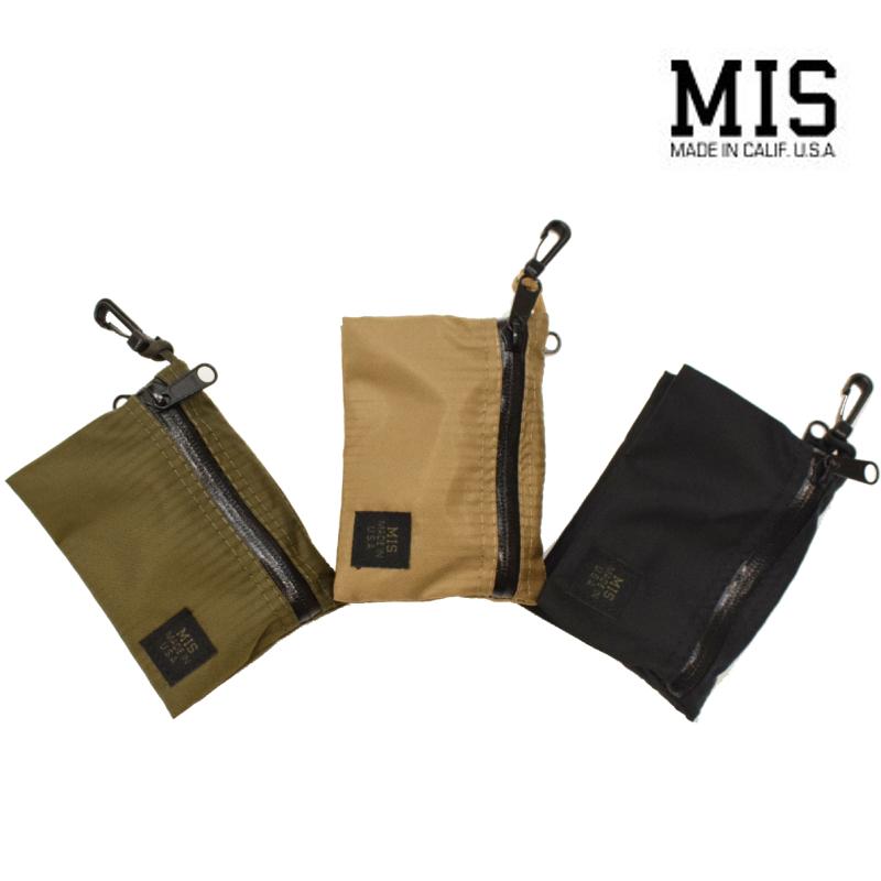 <br>【3 COLORS】M.I.S 【MADE IN U.S.A】W SMALL POUCH(スモール ポーチ) PACKCLOTH NYLON(パッククロスナイロン) MIS-1040