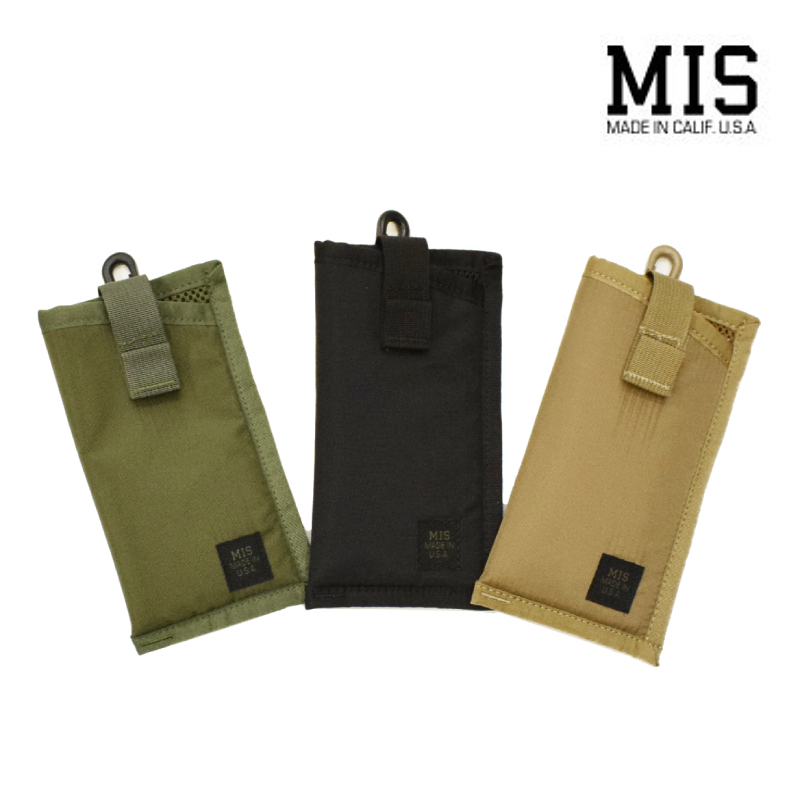 <br>【3 COLORS】M.I.S 【MADE IN U.S.A】EYE WEAR SOFT CASE(アイウェアソフトケース) PACKCLOTH NYLON(パッククロスナイロン) MIS-1041