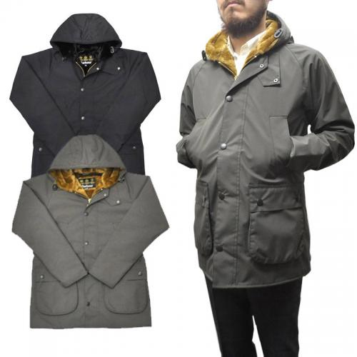 <br>【2 COLOR】BARBOUR(バブアー) HOODED BEDALE SL with FUR LINING(スリムフィット ファーライニング付き フーデッド ビデイル) POLYESTER(ポリエステル)