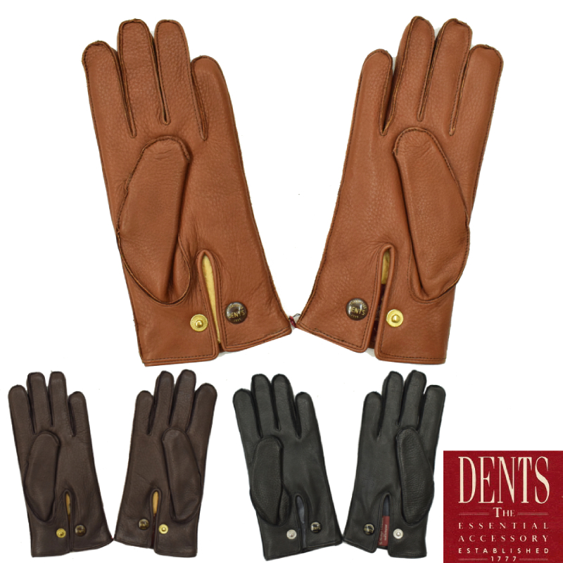 <br>【3 COLORS】 DENTS(デンツ) LAETHER GLOVES(レザーグローブ/革手袋) DEER/RABBIT(ディアスキン/ラビットファー)