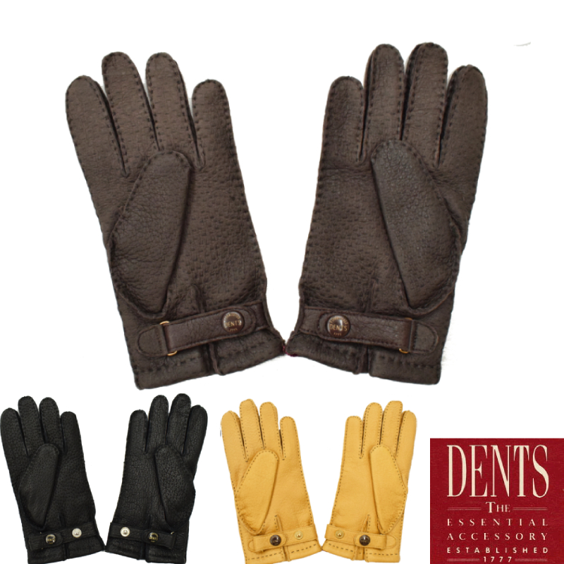 <br>【3 COLORS】DENTS(デンツ) LAETHER GLOVES(レザーグローブ/革手袋) PECCARY/CASHMERE(ペッカリー/カシミア)