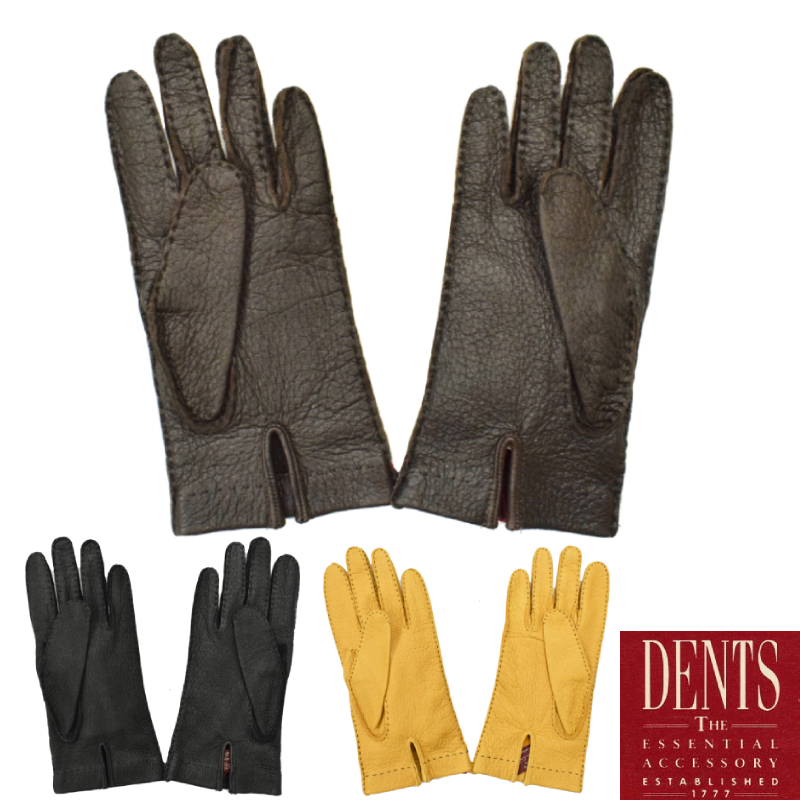 <br>【3 COLORS】DENTS(デンツ) LAETHER GLOVES(レザーグローブ/革手袋) PECCARY(ペッカリー/ノーライニング)